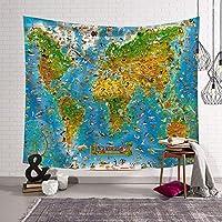 シンプル 世界地図 シリーズ タペストリー 個性 インテリア 壁掛け 室内 雑貨