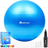 Meteor Anti-Burst Yoga Ball Swiss Ball with Air Pump for Exercise Pilates Balance Workout Fitness Pregnant Therapy Relaxation