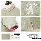 10color 胸刺繍入りカラーライン鹿の子ポロシャツ バレッタ画像⑩