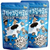 【2個セット】韓流商品 クッキー&クリーム お菓子 おつまみ アーモンド ナッツ 190g×2