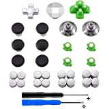 eXtremeRate Magnetic Metal Bullet Buttons Dpads, Aluminium Thumbstick Joystick Adustable Height, Replacement Parts for Playst