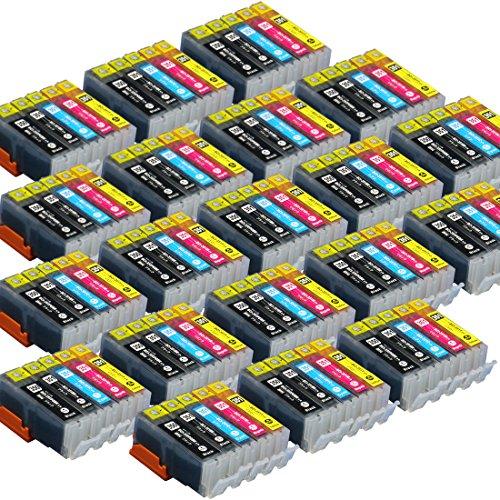 【100本セット!】キヤノン用BCI-351XL+350XL/5MP  5色パックが20個のセット! 増量版 ICチップ付 【互換インクカートリッジ】 対応機種:PIXUS MG5530 / PIXUS MG5430 / PIXUS MX923 / PIXUS iP7230 / PIXUS MG7130 / PIXUS MG6530 / PIXUS MG6330「JAN:4582480214093」インクのチップスオリジナル