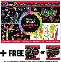 Deluxe Combo Scratch Art Set + FREE Melissa & Doug Scratch Art Mini-Pad Bundle [59817]