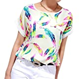 Gillberry Women's Casual Long Sleeve Blouses Chiffon Polka Dots Shirt Tops