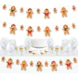 Big Dot of Happiness Gingerbread Christmas - Gingerbread Man Holiday Party DIY Decorations - Clothespin Garland Banner - 44 P