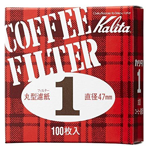 カリタ コーヒーフィルター モカエキスプレス用 #1 丸形濾紙 47mm 100枚入り #21003