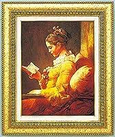複製絵画 読書する少女 フラゴナール作 F10