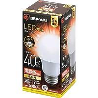 アイリスオーヤマ LED電球 口金直徑26mm 広配光 40W形相當 電球色 密閉器具対応 LDA4L-G-4T6