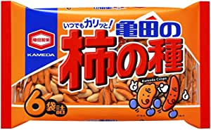 【Amazon.co.jp限定】亀田製菓 亀田の柿の種6袋詰 200g×6袋