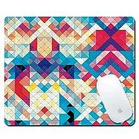 pershooマウスマットゲームマウスパッド、カラフルな花パターンクリエイティブ滑り止めマウスパッド、ソフトゴムマウスパッドマウスマットマウスマウスfor Travel Office–ブルー