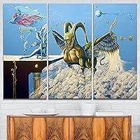 "Designart Cherubim ポートレート デジタルアート キャンバスプリント 36x28"" - 3 Panels PT7648-3P"