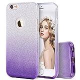 Imikoko iPhone6s 6 Plus ケース iPhone 6 Plus case iPhoneケース キラキラ 女性 (Purple 2)
