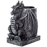 4.5 Inch Medieval Dragon Statue Figurine Desk Top Utility Holder