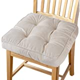 Big Hippo Chair Pads Square Cotton Chair Cushion with Ties Soft Thicken Seat Pads Cushion Pillow for Office,Home or Car Sitti