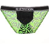(ジーステーション) G-Station G-Station/ジーステーション フロント水着系生地 薔薇風紋様 ビキニブ…