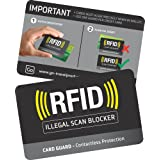 Go-Travel RFID Card Guard, Black, 688