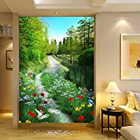Sproud 大規模な 3 D ステレオリビングルームの背景自然風景壁紙壁紙パストラル廊下通路 430 Cmx 300 Cm のシームレスな壁画