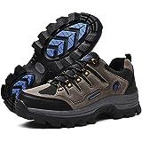 [todaysunny] トレッキングシューズ メンズ ハイキングシューズ 登山靴 アウトドアシューズ 防水 軽量 防滑 スエード 厚い底 ハイシューズ 24.5cm-28.0cm