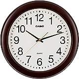 CASIO(カシオ) 掛け時計 ダークブラウン 直径29.5cm アナログ 木枠 連続秒針 IQ-132S-5JF