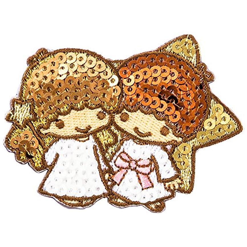 天使アヒル劇場ミノダ リトルツインスターズスパンコール刺繍デコシール Little Twin Stars S01R8747