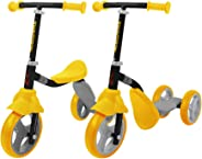 K2 Toddler 3 Wheel Kick Scooter & Ride-On Balance Trike 2-in-1 Adjustable for 2, 3, 4, 5 Year Old Kids Boy or Girl Transforms