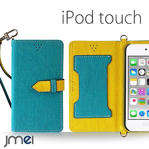 iPod touch 6 5 ケース JMEIオリジナルカルネケース VESTA ブルー アイポッド タッチ 第6世代 第5世代 スマホ カバー スマホケース 手帳型 ショルダー スリム スマートフォン