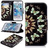 Lomogo iPhone6Sケース/iPhone6ケース 手帳型 耐衝撃 レザーケース 財布型 カードポケット スタンド機能 マグネット式 アイフォン6S/6 手帳型ケース カバー 人気 - LOBFE11235#2