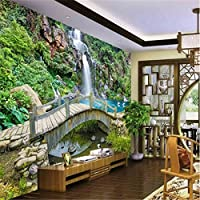 Sproud 大規模なカスタム壁紙スプリング・クリークの橋滝の風景画を背景にしたベッドルームベッドルームリビングルーム 300 Cmx 210 Cm
