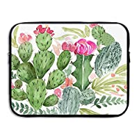 ZMvise Cactus Watercolor Pattern Protective Slim Padded Laptop Soft Neoprene Sleeve Bag Case Cover for Notebook iPad Tablet Computer