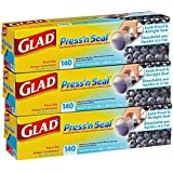 Mega Value Glad Press'n Seal, All Surface Cling Wrap, Leak-Proof and Airtight Seal, BPA Free, Total 420 sq ft