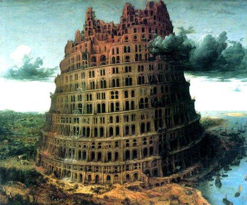 ブリューゲル・「バベルの塔_1563」 プリキャンバス複製画・ ギャラリーラップ仕上げ(8号サイズ)