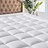 MATBEBY Bedding Quilted Fitted Twin XL Mattress Pad Cooling Breathable Fluffy Soft Mattress Pad Stretches up to 21 Inch Deep,