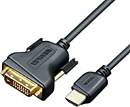 HDMI to DVI, Benfei HDMI to DVI Cable Bi Directional DVI-D 24+1 Male to HDMI Male High Speed Adapter Cable Support 1080P Full HD Compatible for Raspberry Pi, Roku, Xbox One, PS4 PS3, Graphics Card