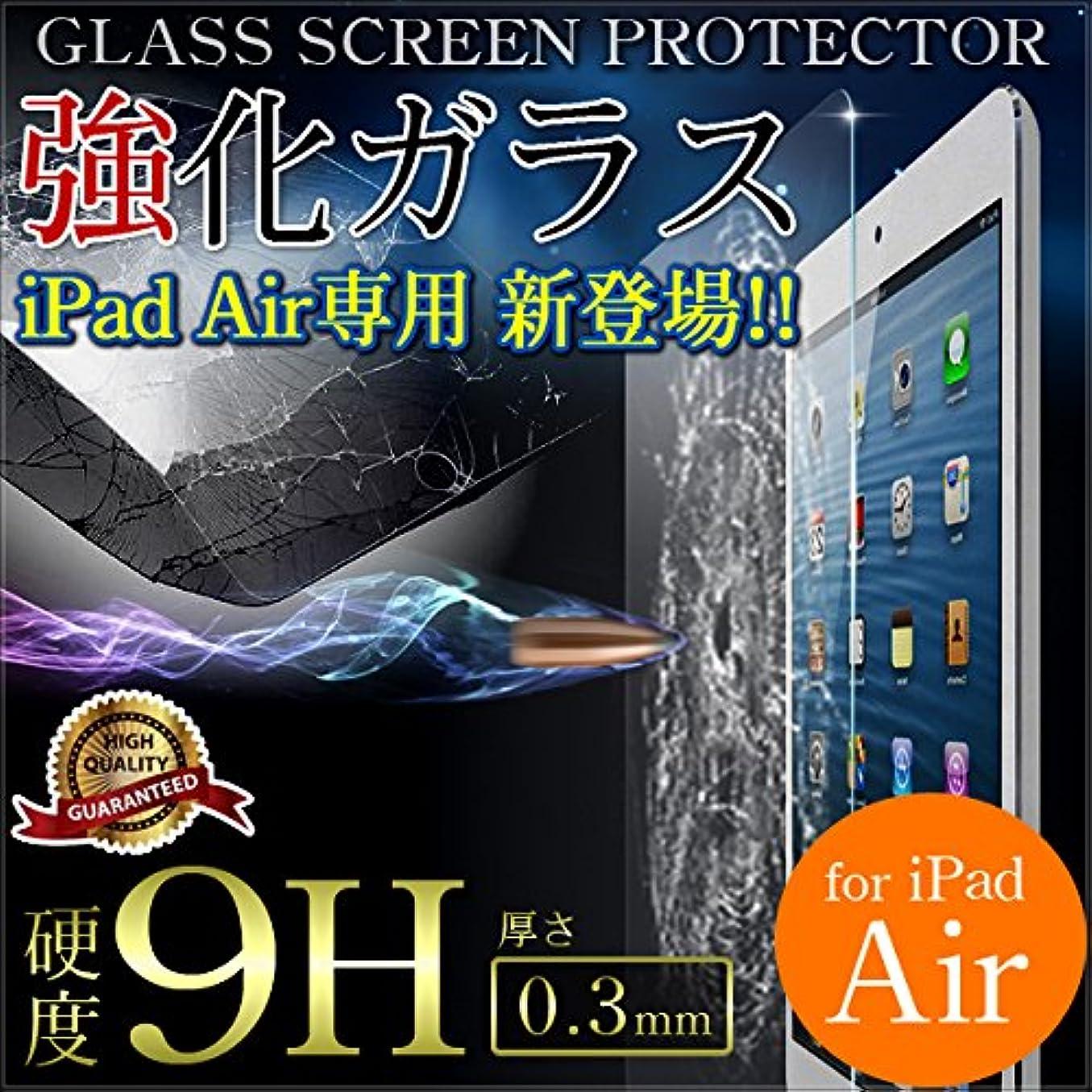 空白カヌー高齢者iPad Air 強化 ガラス 液晶保護 フィルム 画面