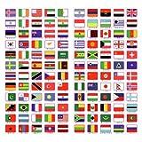 シール 国旗 ステッカー ( 120ヵ国 ) (長方形型)