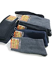 靴下 暖かい メンズ ソックス あったか厚地パイル素材 カラー無地 10足セット