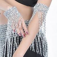 Dolity Plastic Beaded Fringe Bracelet Dancer Tassel Wrist For Fancy Dress Party