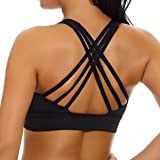 nine bull Women's Removable Padded Sports Bras High Impact Support Fitness Racerback Workout Yoga Bra