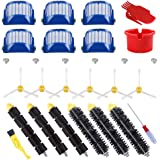 ECOMAID Replacement Parts Kit Bristle & Flexible Beater Brush & Armed-3 Side Brush & Filters for iRobot Roomba 600 Series 614