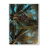 ビーチ手帳2020 10月始まり B6サイズ マンスリービニールカバー 薄型 (Palm Trees)