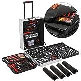 1099pcs Tool Kit Tool Set Aluminum Portable Case Mechanics Kit Box Organizer Toolbox Trolley
