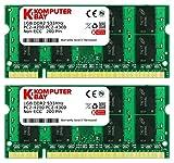 Komputerbay 1GBメモリ 2枚組 DDR2 533MHz PC2-4200 1GBX2  DUAL 200pin SODIMM ノート パソコン用 増設メモリ 2GB デュアル