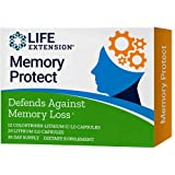 Life Extension Memory Protect, Powerful Dual Action Cognition and Memory Support, 12 Colostrinin-Lithium (C-Li) Capsules | 24