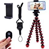 Phone Tripod, Ibeston Octopus Tripod for iPhone/Universal Smartphone/Cell Phone/Camera Arbitrary Installed with Remote Contro