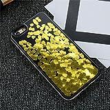 Dagly(TM) iPhone 6 6S iPhone 7プラスケースガール女性アクセサリーについてはiPhone 6 6SプラスiPhoneケース7 Phoneのカバーにグリッター流砂ケース[iphone 6 6S Plusのゴールド]