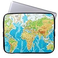 Recaso(レカソ)おしゃれ 12.6/12.8/13/13.3インチ PCケース パソコンケース パソコンカバー ラップトップスリーブ ノートパソコン世界地図