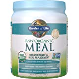 Garden of Life Meal Replacement - Organic Raw Plant Based Protein Powder, Lightly Sweet, Vegan, Gluten-Free, 18.3oz (1lb 2oz