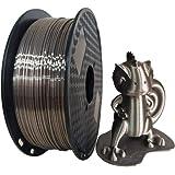 Silk Rose Gold 3D Printer Filament 1.75mm 1KG 2.2LBS Spool 3D Printing Silky Shiny Metal Metailic Rose Gold (Dark) PLA Materi