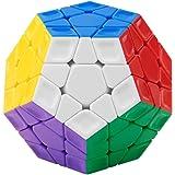 FAVNIC メガミンクス Megaminx 魔方 キューブ 3x3x3 ステッカーレス 立体パズル 脳トレ ポップ防止 知恵おもちゃ (メガミンクス 無磁競技版)