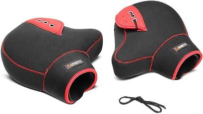 KEMIMOTO バイク用ハンドルカバー ハンドルウォーマー ネオプレーン 防風 防寒対策 左右セット フリーサイズ